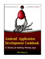 Android Application Development Cookbook doc