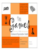 GAMES FOR ADOLESCENT REPRODUCTIVE HEALTH docx