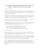 Di chuyển một ứng dụng PHP từ MySQL sang DB2 Phần 1: Chuẩn bị cho việc di trú của bạn potx