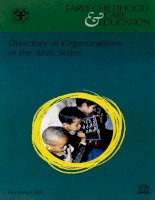 Directory of Early Childhood Care and Education Organizations in the Arab States pot