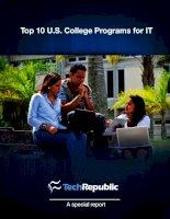 Top 10 U.S. College Programs for IT docx