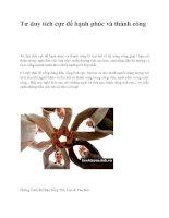 Tư duy tích cực để hạnh phúc và thành công pdf