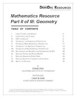 math resource part ii - geometry