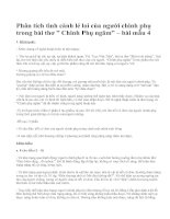 """Phân tích tình cảnh lẻ loi của người chinh phụ trong bài thơ """" Chinh Phụ ngâm"""" – bài mẫu 4"""