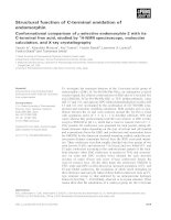 Báo cáo khoa học: Structural function of C-terminal amidation of endomorphin Conformational comparison ofl-selective endomorphin-2 with its C-terminal free acid, studied by 1 H-NMR spectroscopy, molecular calculation, and X-ray crystallography pot