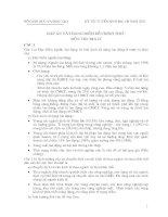 đáp án đề thi đại học môn địa lí năm 2002 khối c