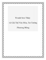 Tranh Sơn Thủy và Giá Trị Văn Hóa, Tư Tưởng Phương Đông potx