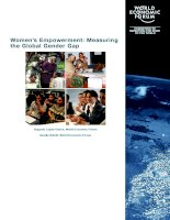 Women's Empowerment: Measuring the Global Gender Gap ppt