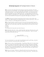 200 bài tập vật lý cực hay và thú vị