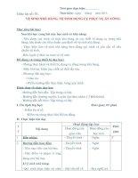 GIÁO ÁN THỰC HÀNH SỐ 1 - VỆ SINH NHÀ HÀNG, VỆ SINH DỤNG CỤ PHỤC VỤ ĂN UỐNG docx