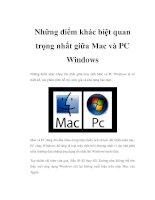 Những điểm khác biệt quan trọng nhất giữa Mac và PC Windows docx