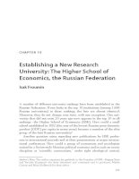 Establishing a New Research University: The Higher School of Economics, the Russian Federation docx