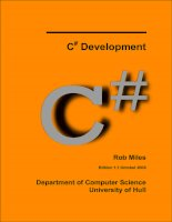 C Development#Rob MilesEdition 1.1 October 2009Department of Computer Science University of Hull.ContentsIntroduction....................................................................................................................... 11 Welco pdf