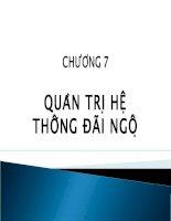 bài giảng quản trị nguồn nhân lực ( lê thị thảo) - chương 7 quản trị hệ thống đãi ngộ