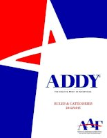 ADDY THE CREATIVE SPIRIT OF ADVERTISING RULES & CATEGORIES 2012/2013 pot