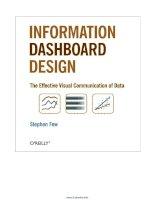 Information Dashboard Design: The Effective Visual Communication of Data pdf