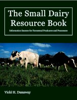 The Small Dairy Resource Book Information Sources for Farmstead Producers and Processors pdf