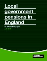 LOCAL GOVERNMENT PENSIONS IN ENGLAND: AN INFORMATION PAPER pdf