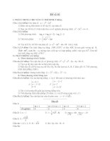 Đề ôn thi tốt nghiệp trung học phổ thông môn toán - Đề 40 ppt