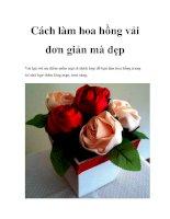 Cách làm hoa hồng vải đơn giản mà đẹp pdf