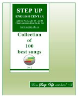 STEP UP ENGLISH CENTER Collection of 100 best songs pptx
