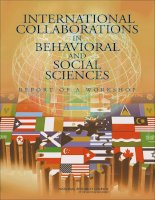 International Collaborations in Behavioral and Social Sciences pot