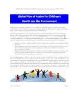 Global Plan of Action for Children's Health and the Environment (2010 - 2015) doc