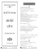 Tổng hợp 35 đề thi thử học kì 1 môn toán lớp 10