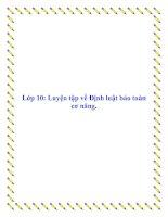 Lớp 10: Luyện tập về Định luật bảo toàn cơ năng potx