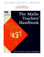 THE MATHS TEACHER'S HANDBOOK doc