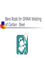 Bare rods for GMAW welding of carbon steel (1)
