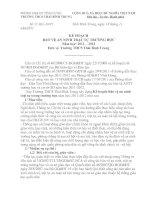 KẾ HOẠCH BẢO VỆ AN NINH TRẬT TỰ TRƯỜNG HỌC