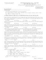 ĐỀ THI THỬ ĐẠI HỌC LẦN 1 – NĂM 2010 MÔN: HÓA HỌC; Khối A, B mã đề 132 docx