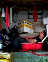 hình minh họa-ảnh vui về các tư thế ngủ độc và lạ