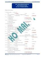 Các loại mệnh đề (Phần 3) (Đáp án bài tập tự luyện) ppt