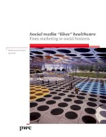 """Social media """"likes"""" healthcare From marketing to social business pdf"""