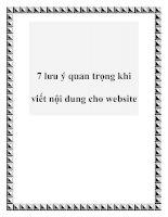7 lưu ý quan trọng khi viết nội dung cho website pdf