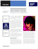 Who Speaks for Me? Ending Child Marriage pptx
