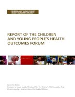 REPORT OF THE CHILDREN AND YOUNG PEOPLE'S HEALTH OUTCOMES FORUM docx