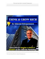 Think and Grow Rich for Internet Entrepreneurs doc