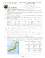 Đề thi HSG khu vực Bắc Bộ năm 2012 Môn Địa 11 pptx