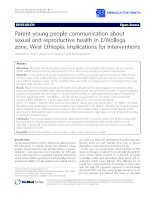 Parent-young people communication about sexual and reproductive health in E/Wollega zone, West Ethiopia: Implications for interventions doc