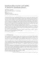 Database Description with SDM: A Semantic Database Model pdf