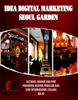 ý tưởng digital marketing seoul garden