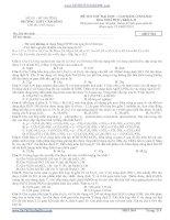 ĐỀ THI THỬ ĐẠI HỌC - CAO ĐẲNG NĂM 2013 Môn: HOÁ HỌC; Khối A, B TRƯỜNG THPT CẨM BÌNH potx