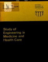 study of engineering in medicine and health care pdf