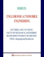 ENGLISH FOR AUTOMOBILE ENGINEERING-UNIT 7 ppt