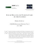 USE OF HEALTH AND NURSING CARE BY THE ELDERLY pptx