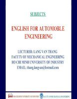 ENGLISH FOR AUTOMOBILE ENGINEERING-UNIT 8 doc