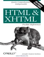 HTML and XHTML Pocket Reference pot